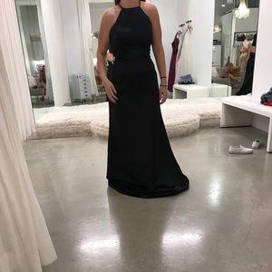 Dresses & Skirts - Black halter bridesmaid dress